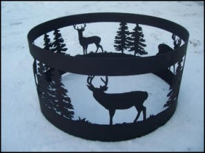 Fire rings by Stewart's Scenic Signs and Metal Art