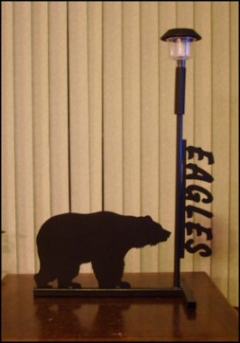 Custom solar lights - Stewart Scenic Signs  - SK